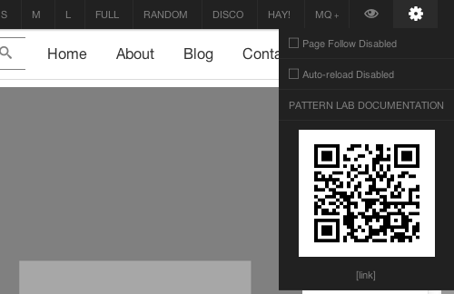Pattern Lab QR Code Example
